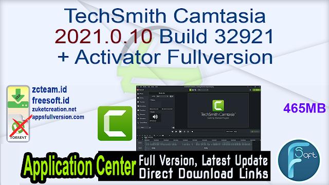 TechSmith Camtasia 2021.0.10 Build 32921 + Activator Fullversion