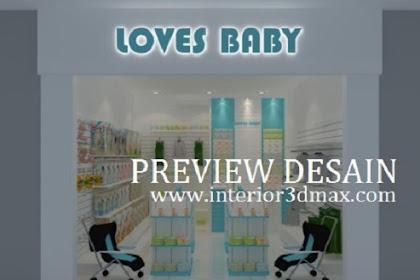 Design 3D Baby Shop Toko Perlengkapan Bayi di Mall