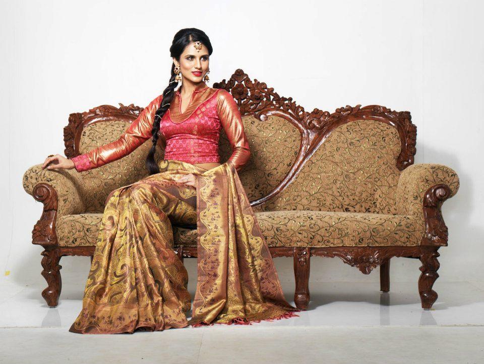 Indian Jewellery and Clothing: Elegant bridal Kanjeevaram sarees from ...