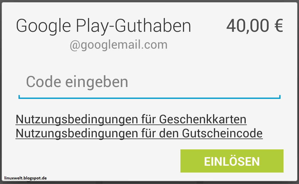 Google Play Guthaben Code Hack