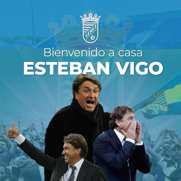 Oficial: El Xerez CD firma al técnico malagueño Esteban Vigo