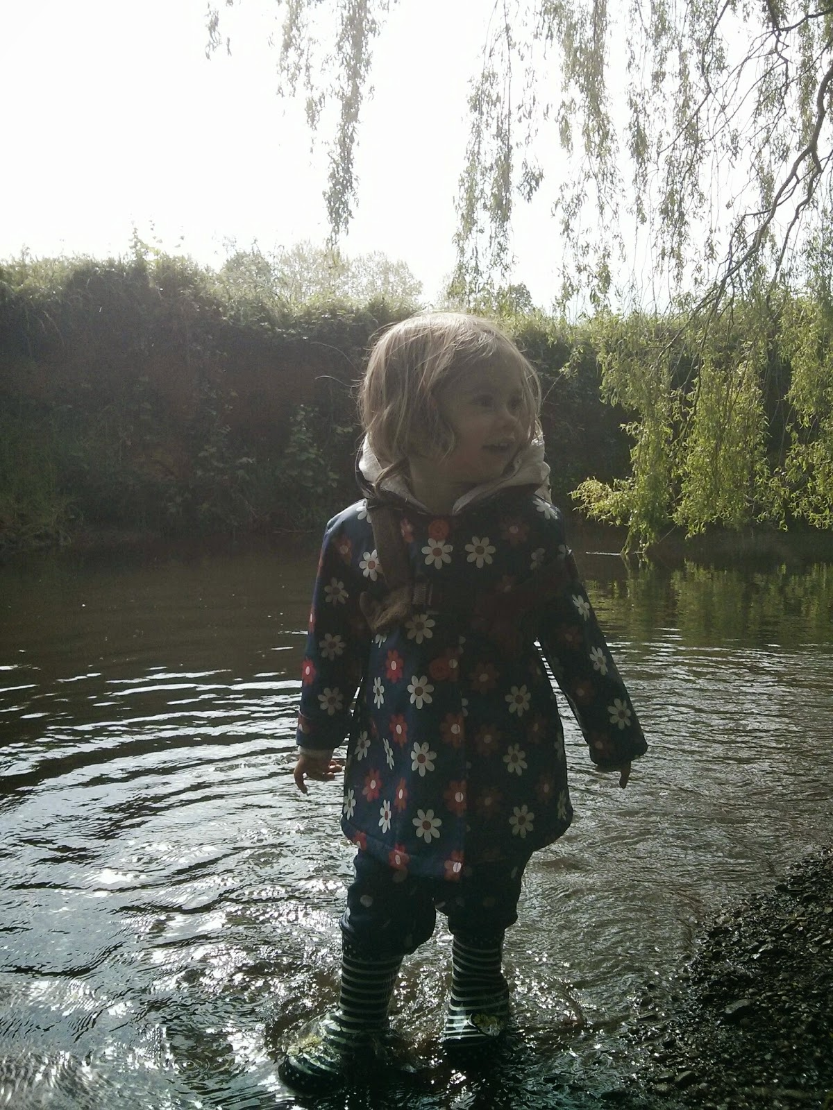 standing in the stream