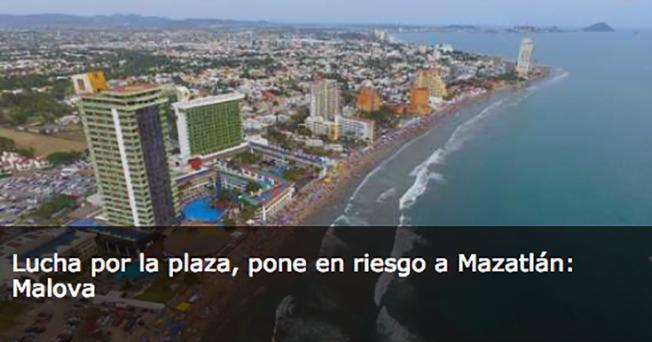 Hay guerra por la plaza de Mazatlan, existen ejecuciones de alto impacto