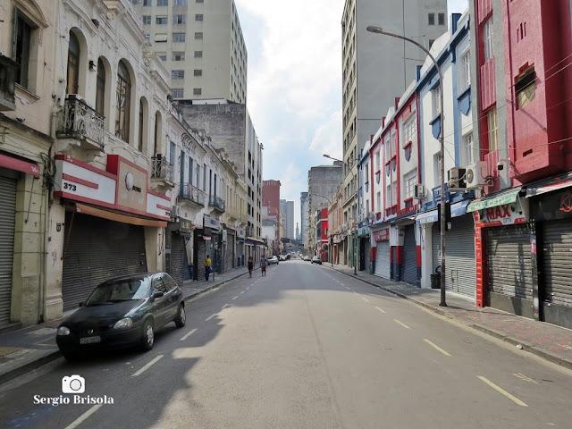 Rua Santa Ifigênia durante a quarentena - São Paulo