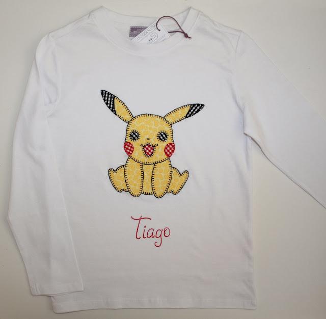 camiseta pokemon pikachu personalizada