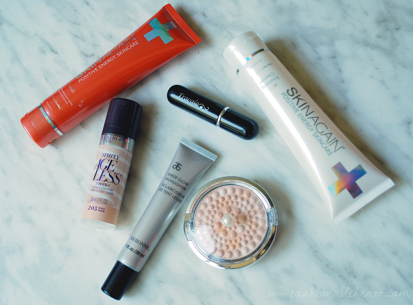 bbloggers, bbloggersca, canadian beauty bloggers, monthly faves, covergirl simply ageless, physicians formula mineral glow pearls, skinagain vanish, aha exfoliating cleanser, travalo perfume atomizer, arbonne, canada, sheer glow highlighter