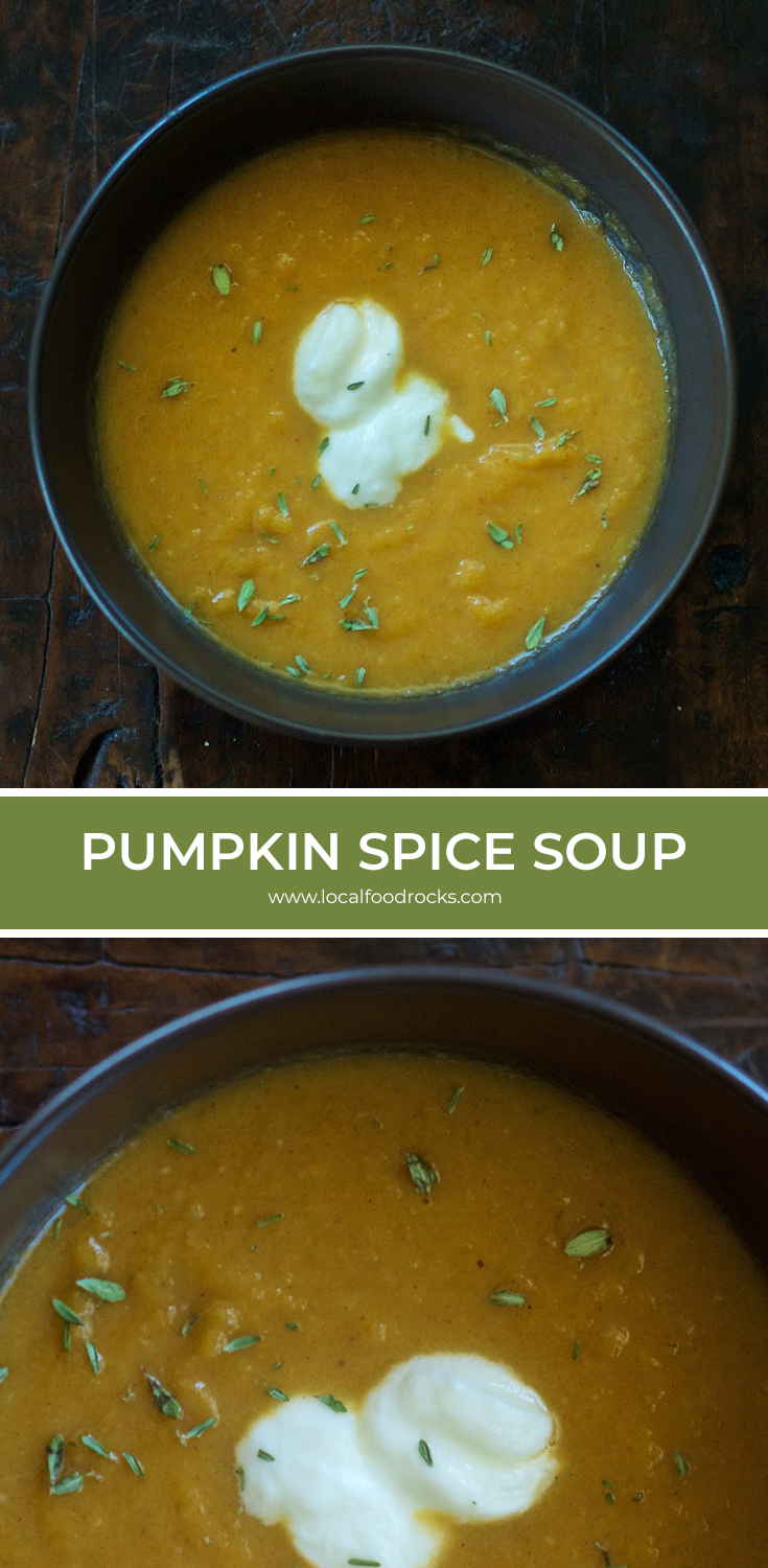 As Fall temperatures dip it's the perfect time to make this warm, comforting, and creamy pumpkin spice soup. | Local Food Rocks