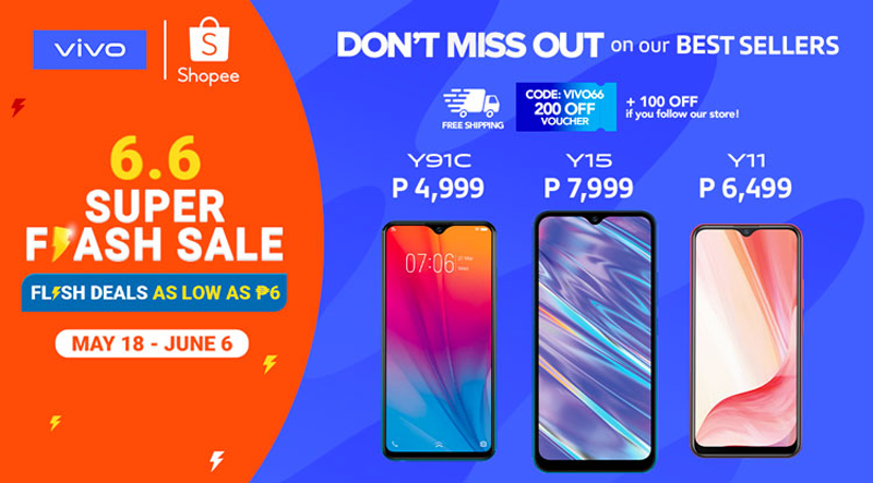 Y Series will be on sale during Shopee 6.6