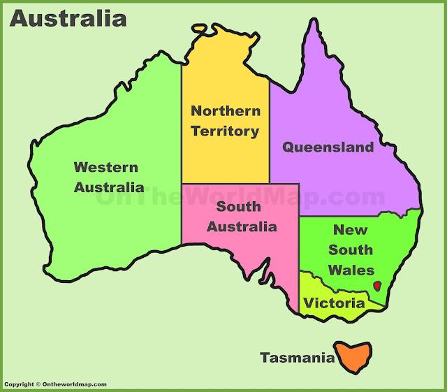 Austrelia map