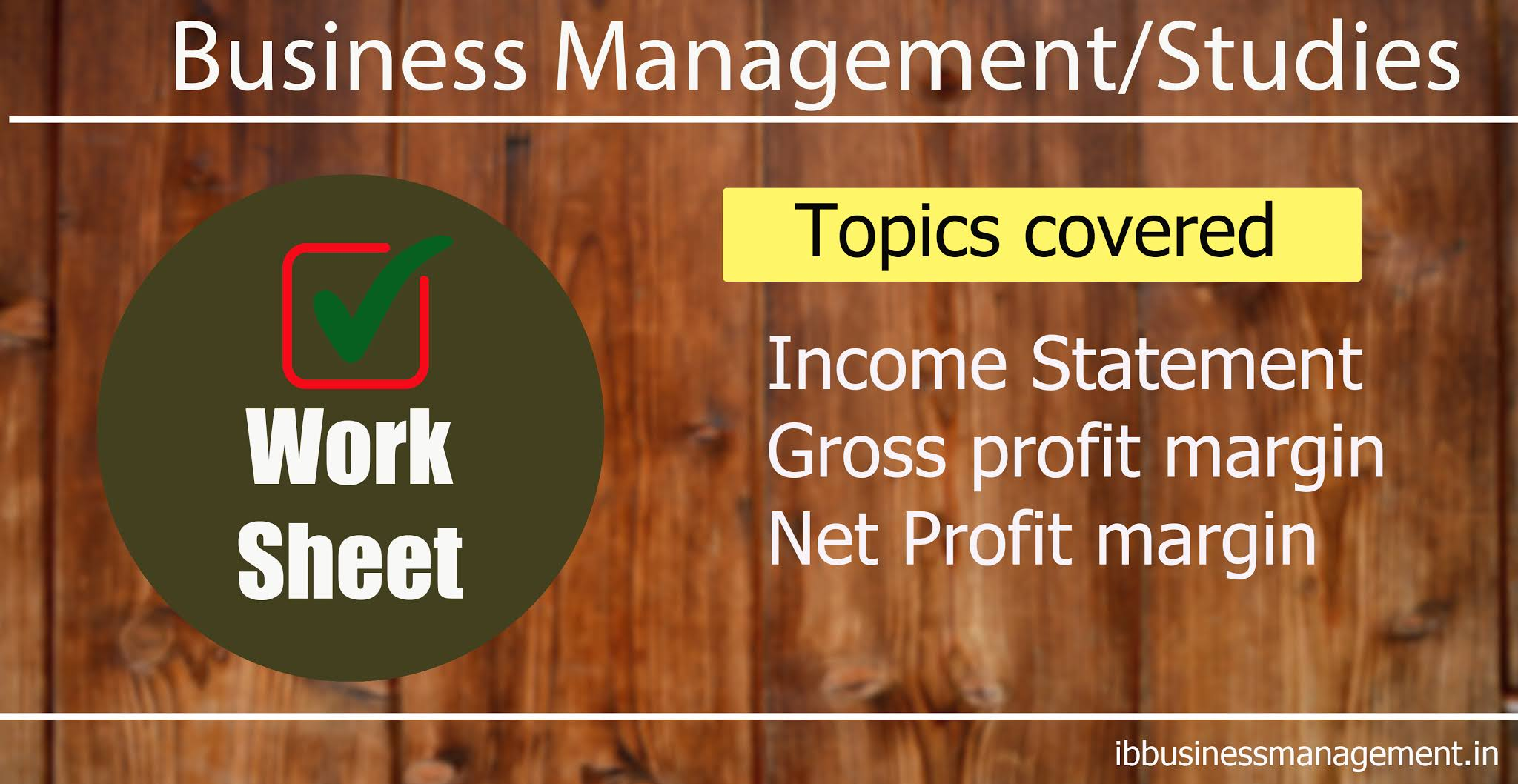 Income statement worksheet Ind Electronics Limited