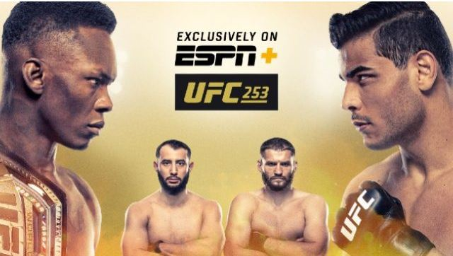 Watch UFC 253 Adesanya vs Costa 9/26/2020 PPV Full Show Live Stream and  Replay