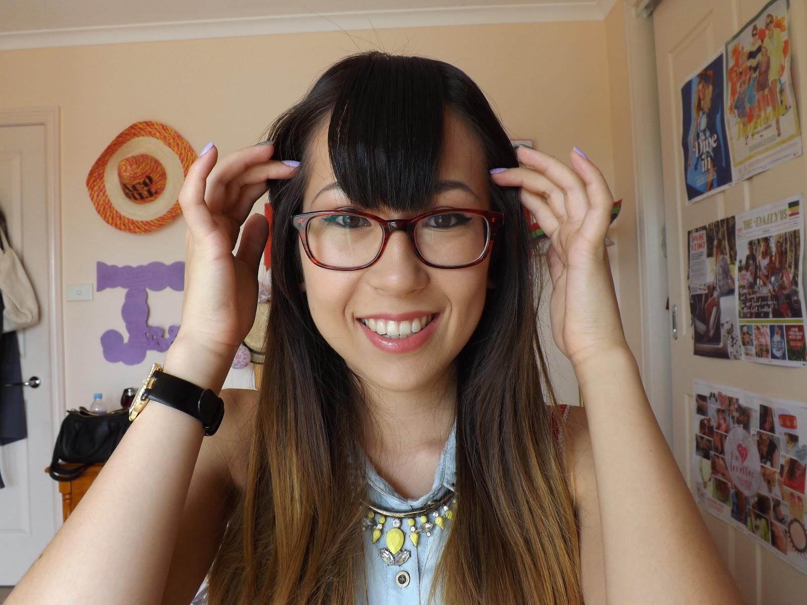 How To Style A Straight Fringe Bangs Taken By Surprise
