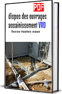 """dispos des ouvrages assainissement VRD """"fosse toutes eaux"""" PDF"""