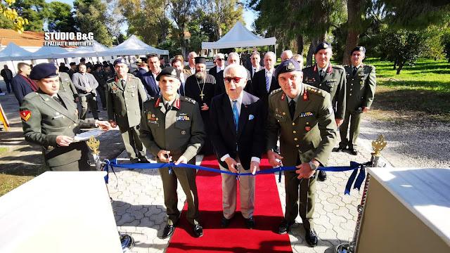 Με δωρεά του Χρήστου Μανέα κατασκευάστηκαν και εγκαινιάστηκαν οι έξι νέοι ξενώνες στο Στρατόπεδο Ναυπλίου
