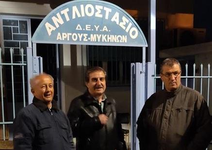 Συνεργεία της ΔΕΗ και της ΔΕΥΑΡΜ στο Άργος έδωσαν μάχη μέσα στην νύχτα για σοβαρή βλάβη