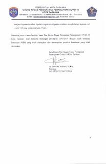 Press Release COVID-19 Tarakan 23 Juni 2020 - Tarakan Info
