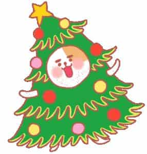 gambar gif pohon natal dan santa claus