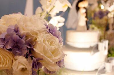 3 Detalhes de um casamento em azul e branco...