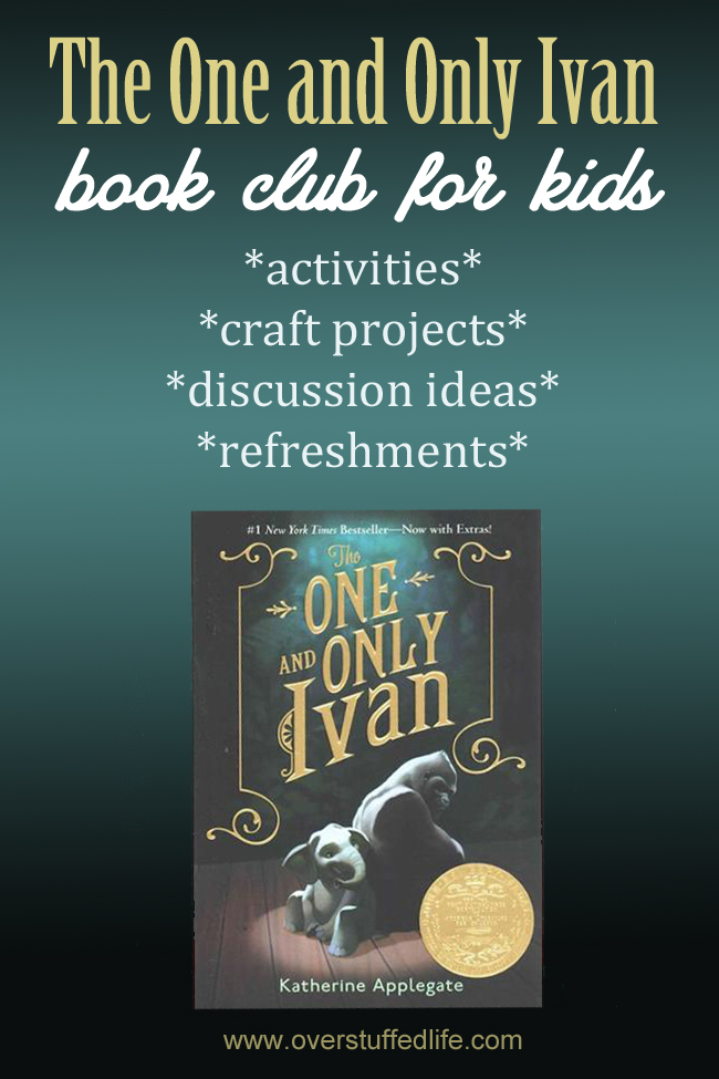 Book Cover Printable Questions : The one and only ivan book club ideas overstuffed
