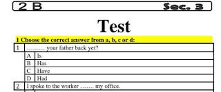إختبار  علي نصف المنهج لغة إنجليزية الأستاذ محمد صبحي ثالثة ثانوي