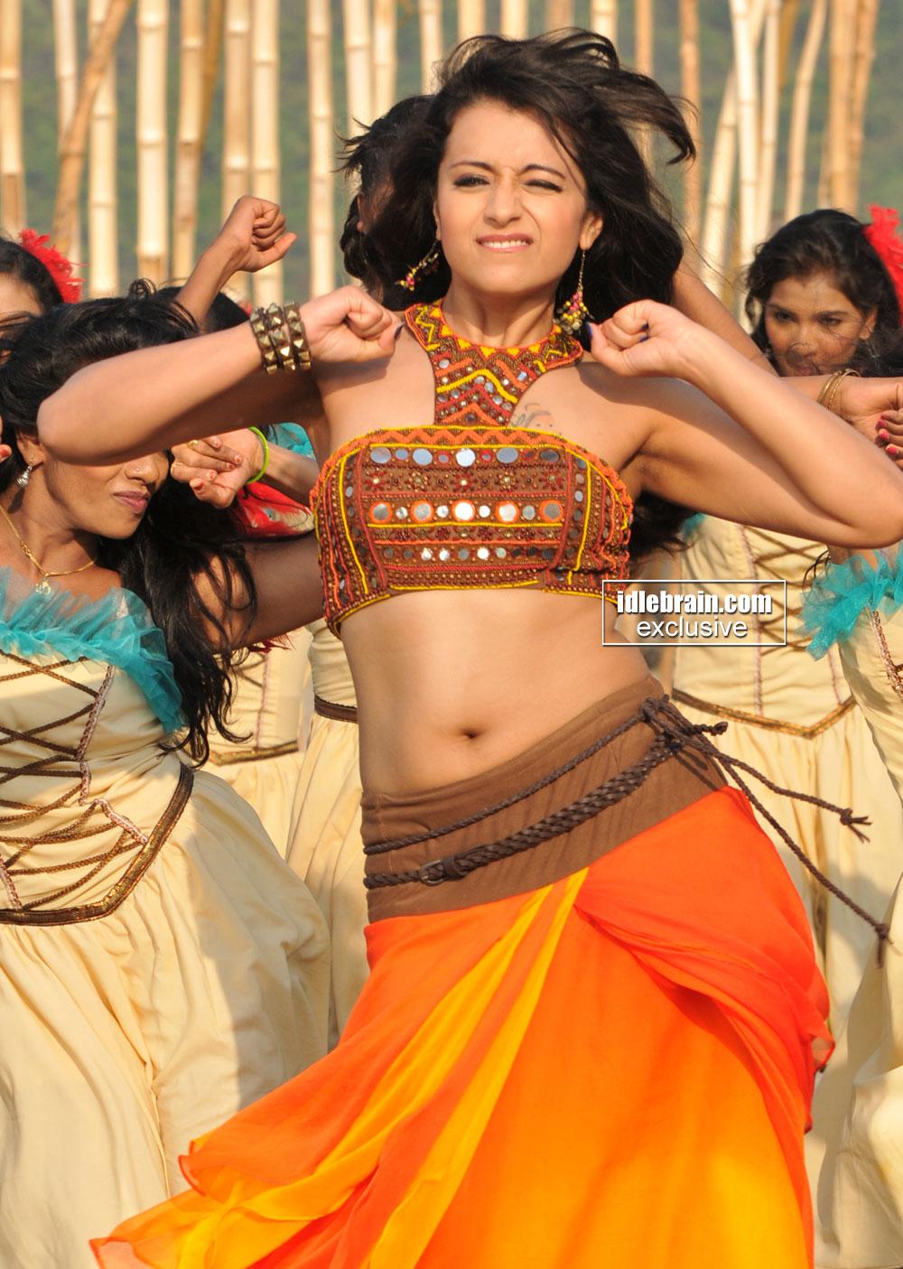 Trisha Latest Item Song in Choli Ghagra Cute Expression Spicy Pics