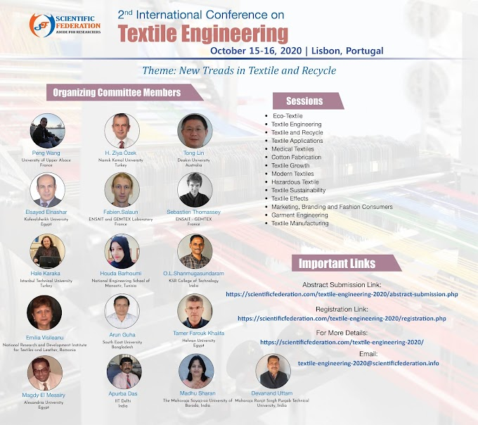 Scientific Federation- 2nd International Conference on Textile Engineering