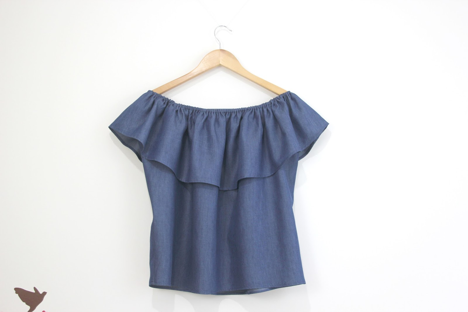 DIY Blusa sin hombros DENIM - Handbox Craft Lovers | Comunidad DIY ...