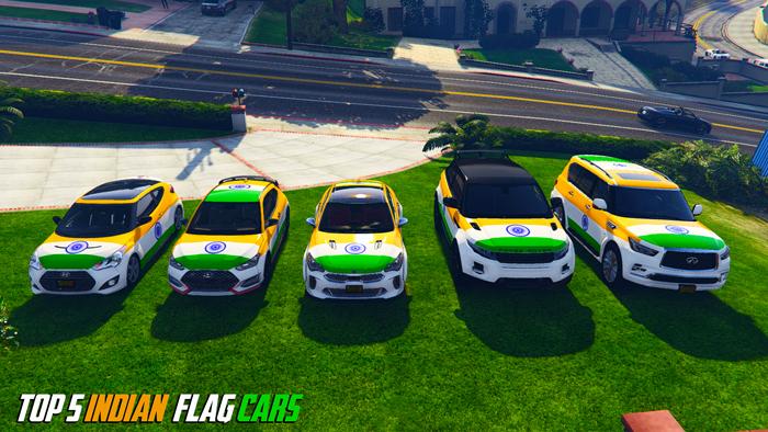5 Indian Flag Cars in GTA V Download   GTA 5 India Mod