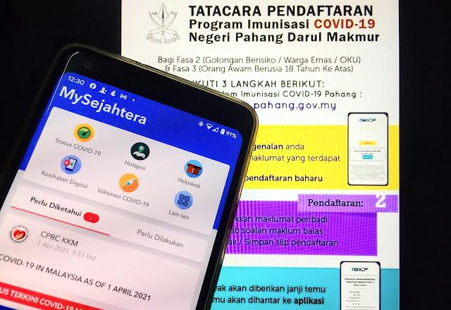3 Cara Daftar Program Imunisasi COVID-19 (Vaksin) Untuk Negeri Pahang