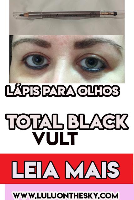 Lápis para Olhos Vult Total Black Longa Duração