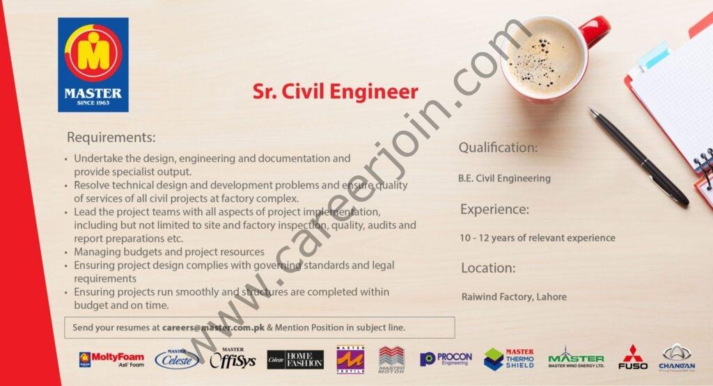 careers@master.com.pk - Master Group of Industries Jobs 2021 in Pakistan