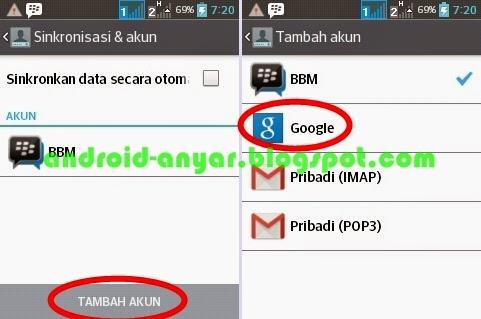 cara tambah akun baru di android