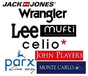 Best Selling Men's Clothing Brands (Jack & Jones, Lee, Celio, Mufti, Wrangler, John Players, Monte Carlo, Parx) Flat 50% – 80% Off @ Snapdeal
