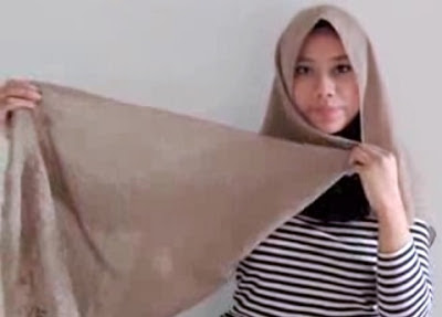 Creation hijab urban chic hanya 3 menit part 1