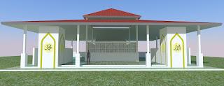 desain atap mushola