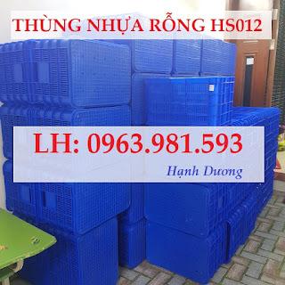 Thùng nhựa rỗng HS012, sóng nhựa HS012, sóng nhựa hở, thùng nhựa hở