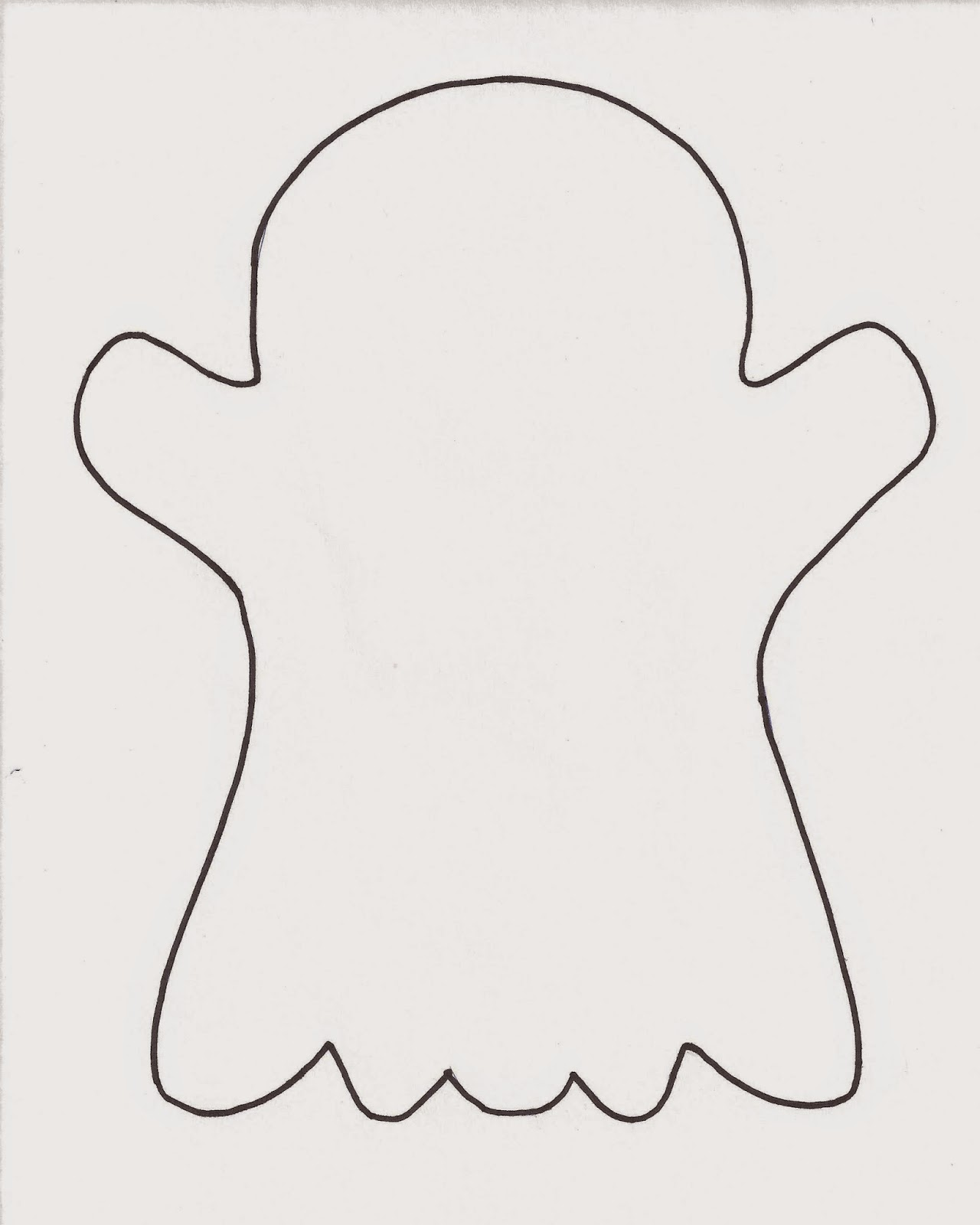 Crafts For Kids Minds Free Printable Ghost Template