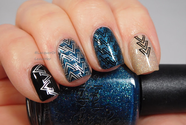 UberChic Beauty Got Chevron 2 over The Lady Varnishes Moon Blinked