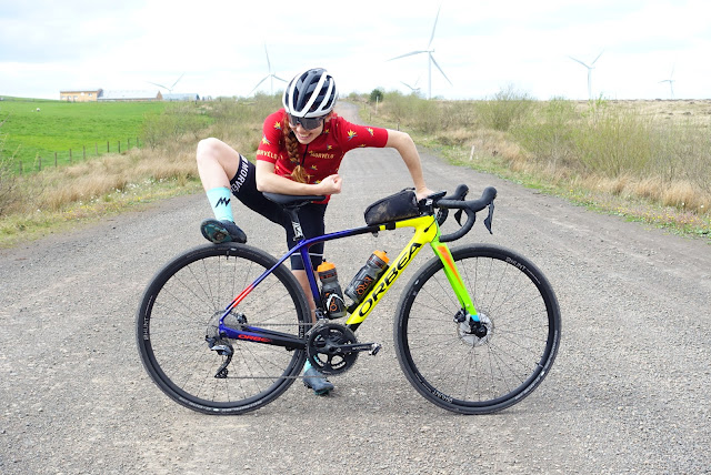 Isla Short national elite XC MTB racer getting to grips with her gravel bike.