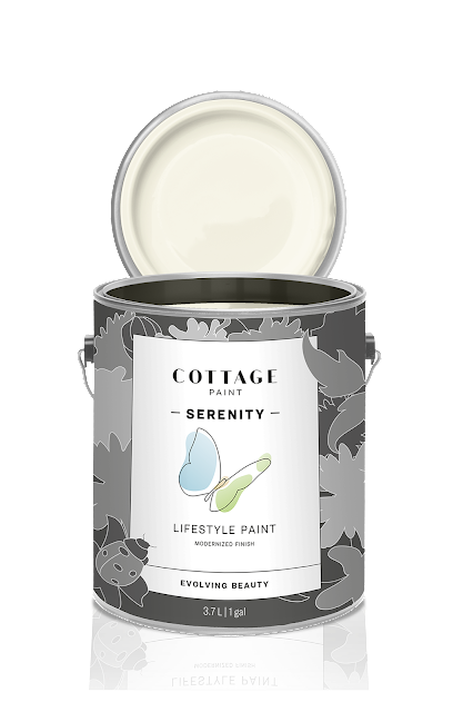 new Cottage Paint Serenity paint can, Creekside
