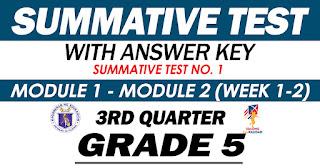 GRADE 5 Summative Test No. 1 (Quarter 3) Modules 1-2