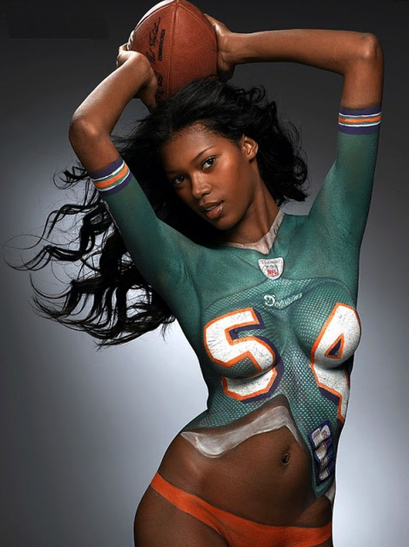 Miami heat naked girls body paint — photo 2