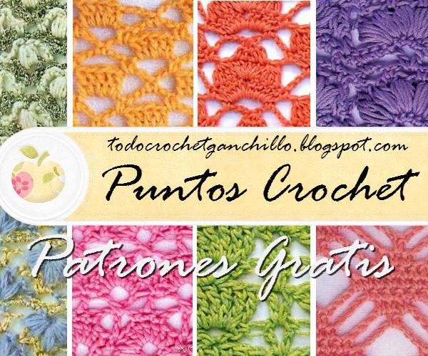 Patrones de puntos calados para tejer al crochet