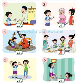Berikan centang (✓) untuk gambar yang sesuai dengan sila kedua Pancasila www.simplenews.me