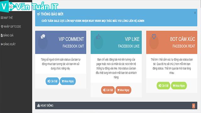 Share Code LikeFb - Code VipLike