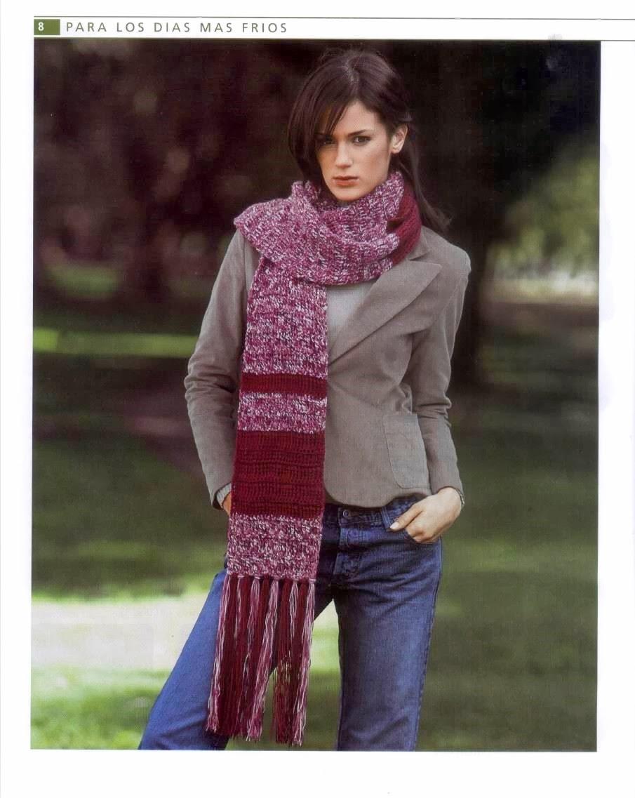 Bufanda Super Larga Crochet Instrucciones