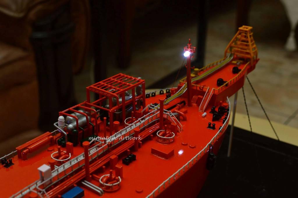 tempat jual miniatur kapal gas concord lpg vessel tanker vlcc offshore ship pt pertamina planet kapal rumpun artwork terpercaya