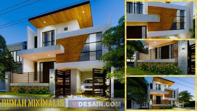 Rumah Minimalis Modern Ukuran 9x12 2 Lantai Desain Rumah Minimalis