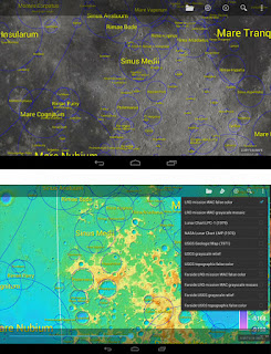 mapa da Lua e nome das crateras para celular android e ios - LUNARMAP