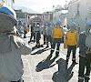 Obreros de construcción civil protestaron frente del palacio municipal de Cayma exigiendo que les paguen